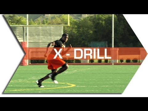 X – DRILL – FOOTBALL SPEED & AGILITY TRAINING – CONE DRILLS