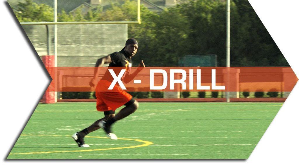 X – DRILL – FOOTBALL SPEED & AGILITY TRAINING – CONE DRILLS