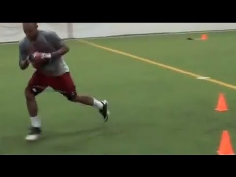 Receiver Drill | Football Training | Agility & Footwork