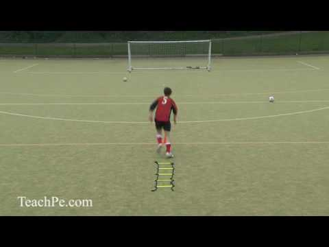 Soccer Drills – Shooting 6 – Agility Shoot
