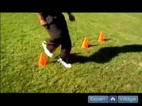 Offensive & Defensive Football Conditioning Drills : Running Back Agility Football Drill