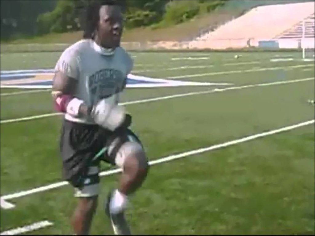 Football Speed and Agility Training with Kinetic Bands   Part 8