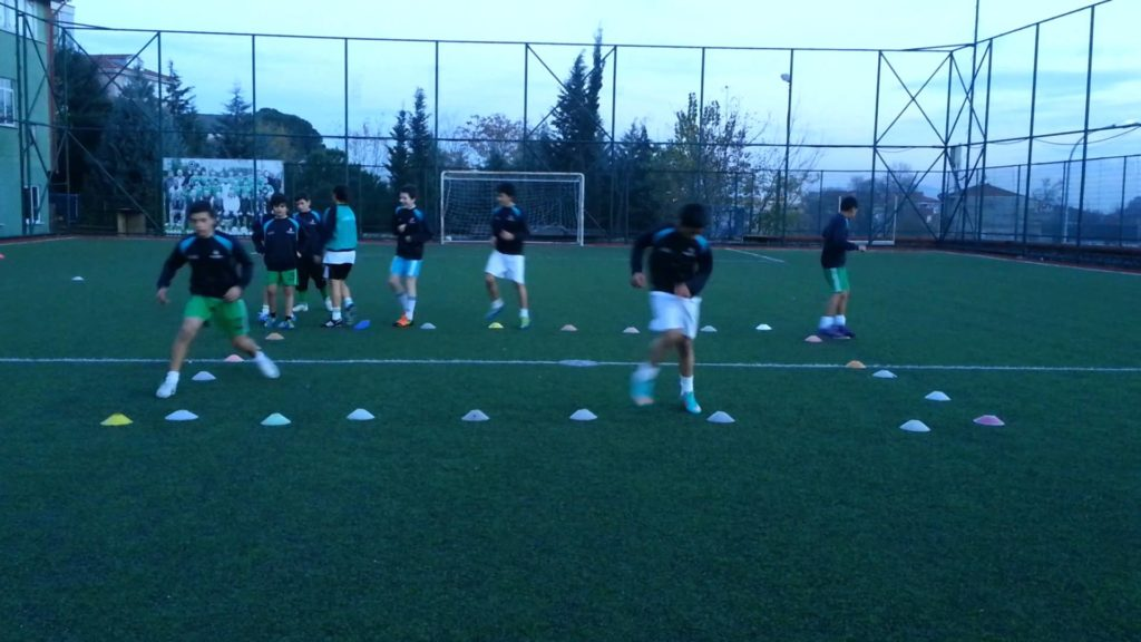 U14 Soccer Drill with Coach Emre Temizkan : Speed , Agility , Coordination Training