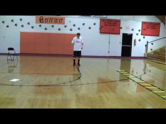 Agility – Basketball Agility Drills – Basketball Quickness Training – 4-Square Rotational U Drill