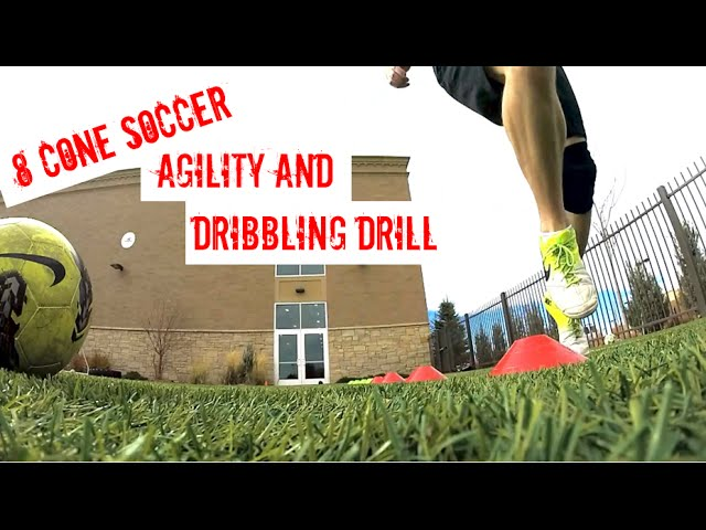 The 8 Cone Soccer Drill for Developing Agility and Dribbling Skills
