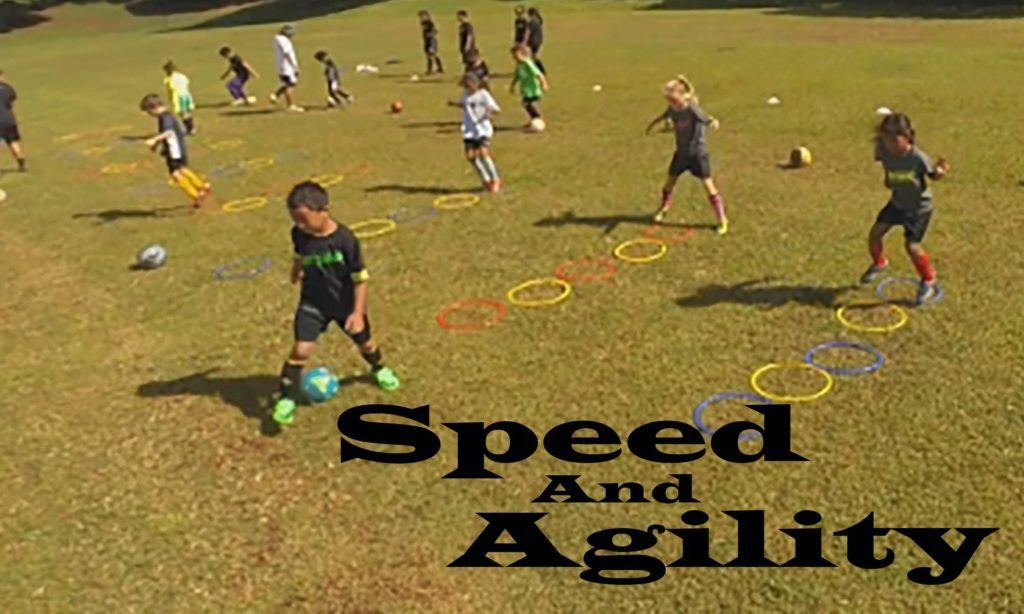 Agility Training with Speed Rings and Soccer Ball