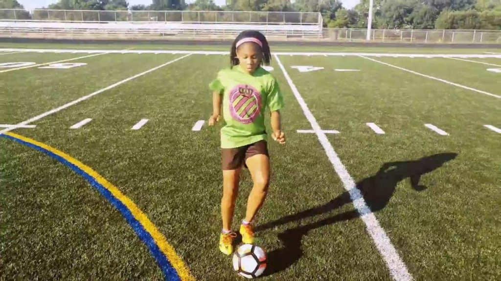 Youth Soccer Drills. Individual Training to Increase Dribbling Skills and Agility