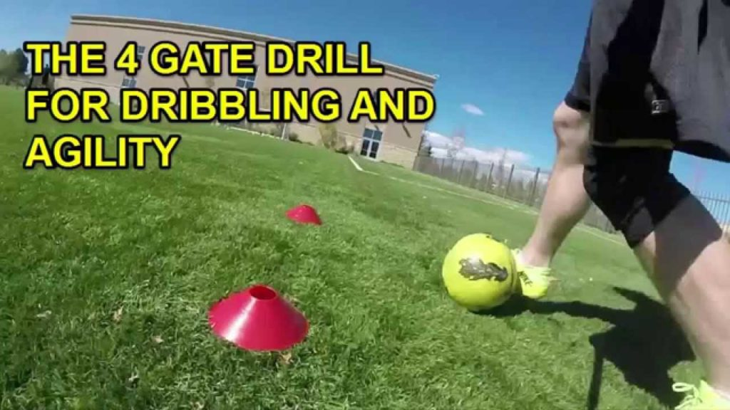 Develop Agility and Ball Control with the 4 Gate Soccer Dribbling Drill