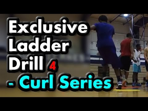 Agility Ladder Drills for Basketball (Curl Series) Drill 4 of 5 – (Footwork, speed, quickness)