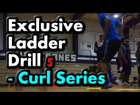 Agility Ladder Drills for Basketball (Curl Series) Drill 5 of 5 – (Footwork, speed, quickness)