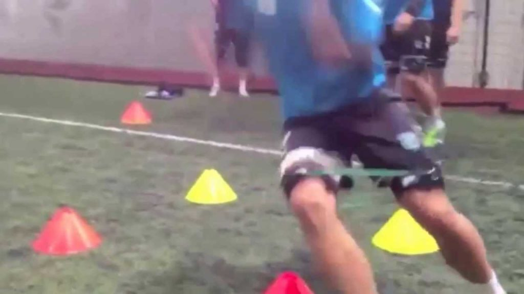 Iceland Soccer Speed and Agility Training With Kinetic Bands