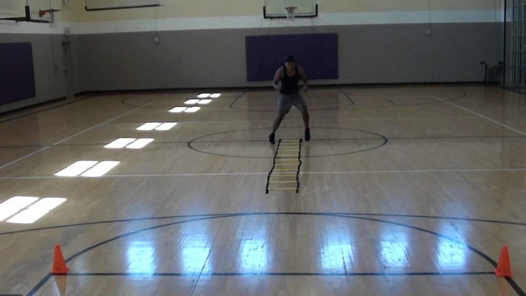 Ladder Basketball Agility Drills with Layup