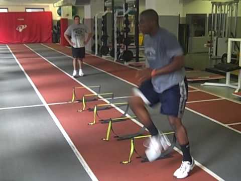 Football Agility training – NIKE SPARQ hurdles 12″