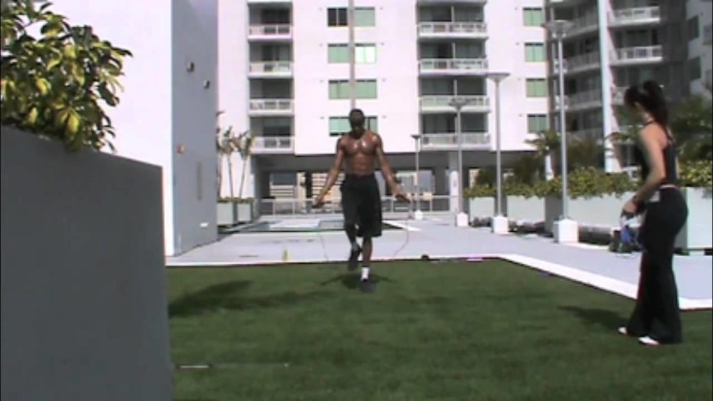 Dre Baldwin: Jumprope Combo + Squat Jumps Pt. 1 | Basketball Agility Training Vertical NBA Fit