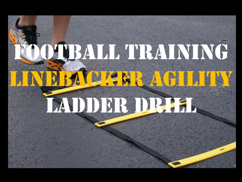 Football Agility Training Linebacker Drill: Agility Ladder