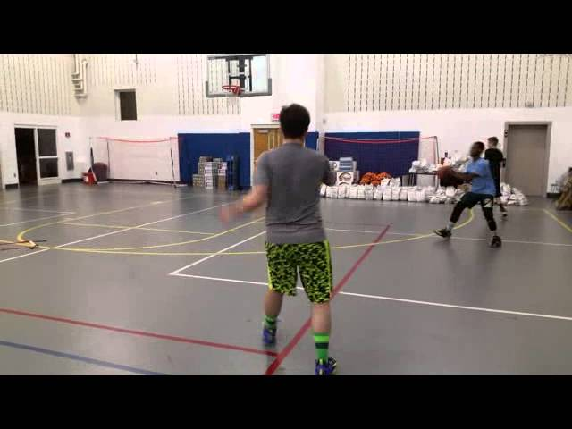 Basketball Agility Ladder Drill w/Wide Pin down