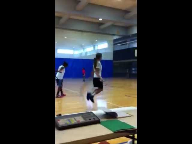 Girls Basketball Agility Drills with heavy rope