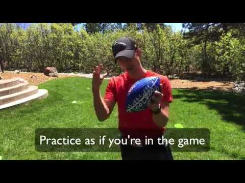 Youth Flag Football Drill – Speed Agility Juking Cutting