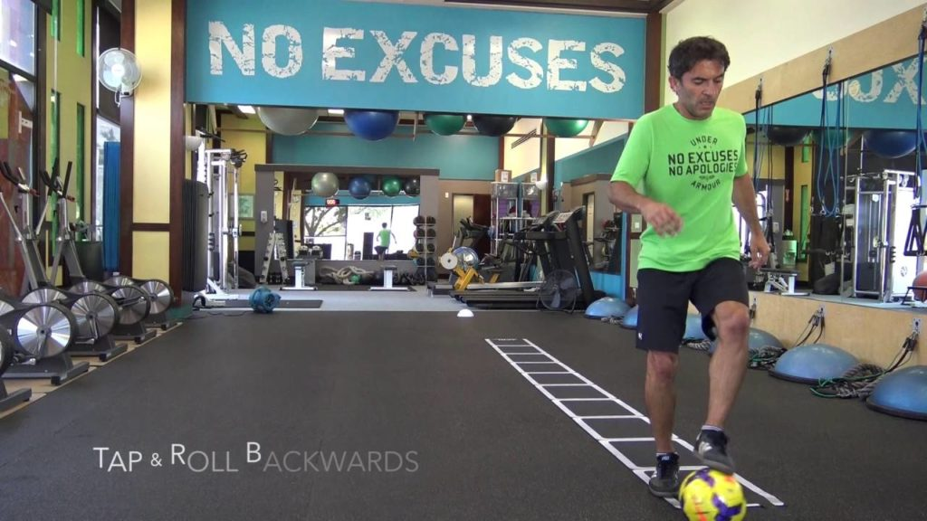 Soccer Agility Training Combining Agility Ladder with Soccer Ball part 1