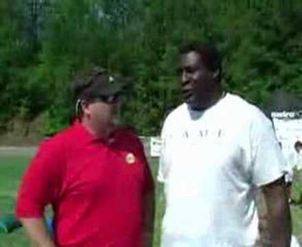 Former NFL player, Lomas Brown Teaches Football Agility for Youth Football