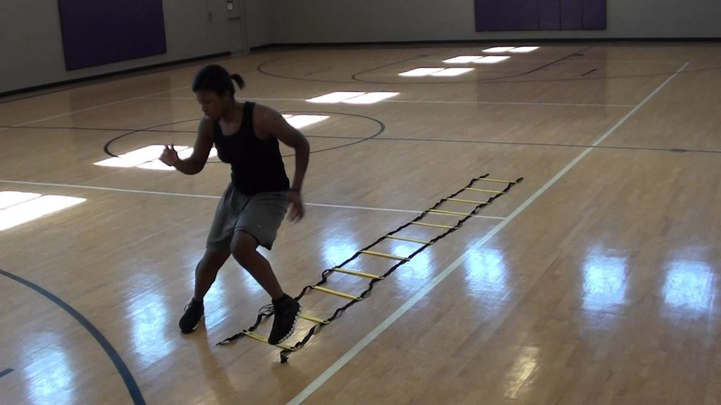 Ladder Shuffle Basketball Agility Drills