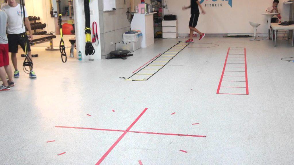 Basketball agility ladder- cross over + sprint