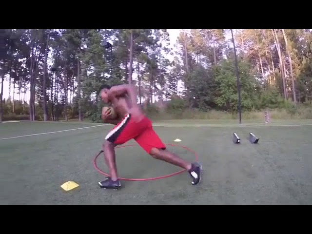Copy of Football Agility Drills with resistance from the EXERGENIE Speed Trainer