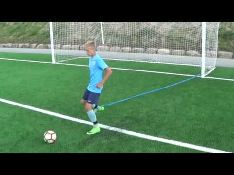 Individual football training • Agility with ball • Resistance band (HD)