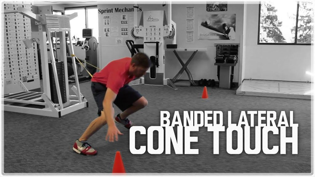 Banded Lateral Cone Touch (Lateral Shuffle) | Agility Training & Quickness