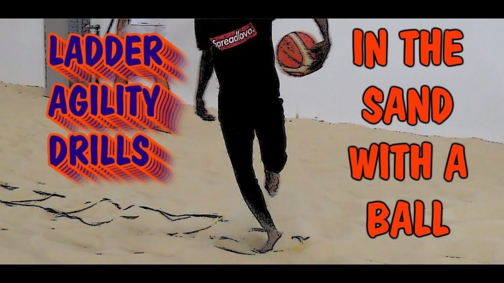Ladder Agility Drills In Sand With Basketball