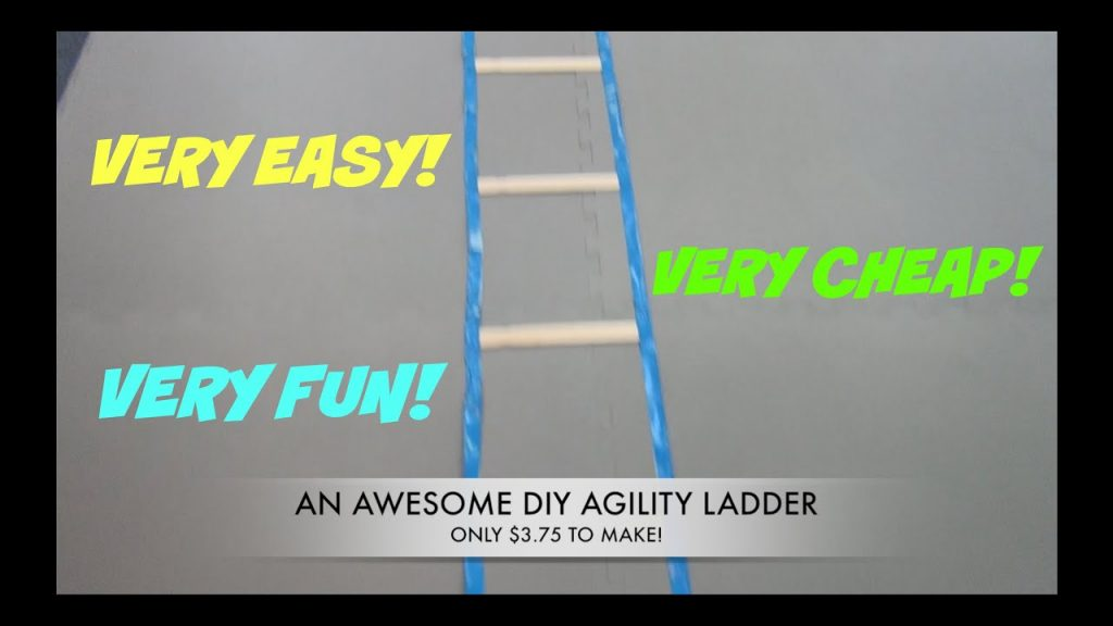 DIY EASY SPEED AGILITY LADDER UNDER 5 BUCKS !!!