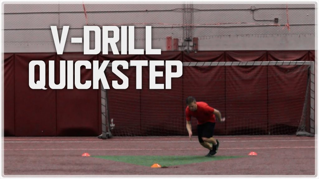 Football Drills: Cornerback Footwork and Agility Training | V Drill Quick Step