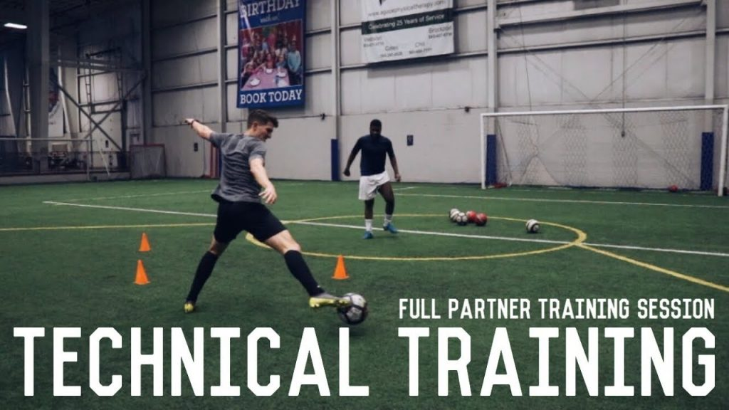 Technical Training Drills For Footballers | Full Partner Training Session