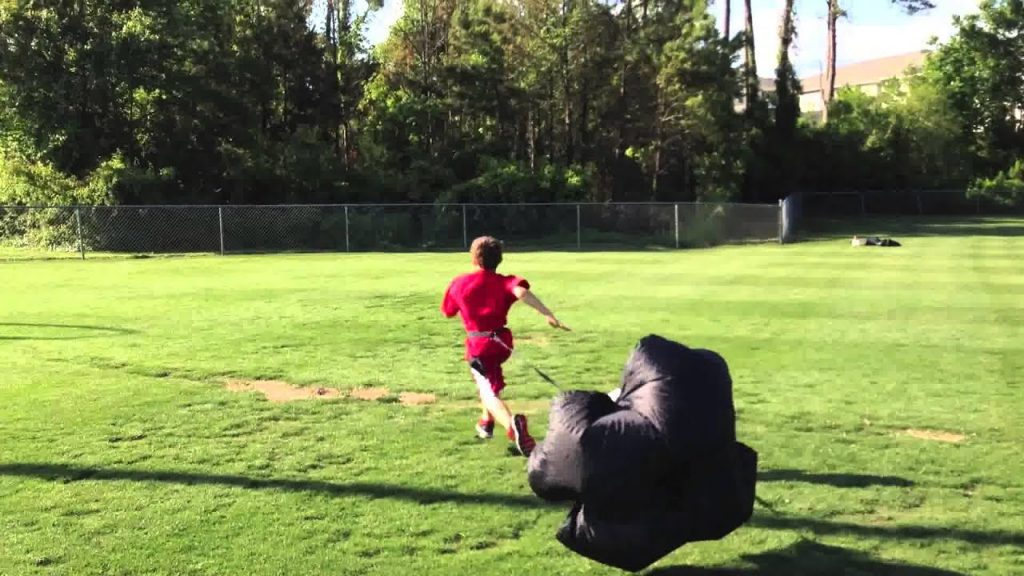Speed, Balance, Agility (youth parachute drills)