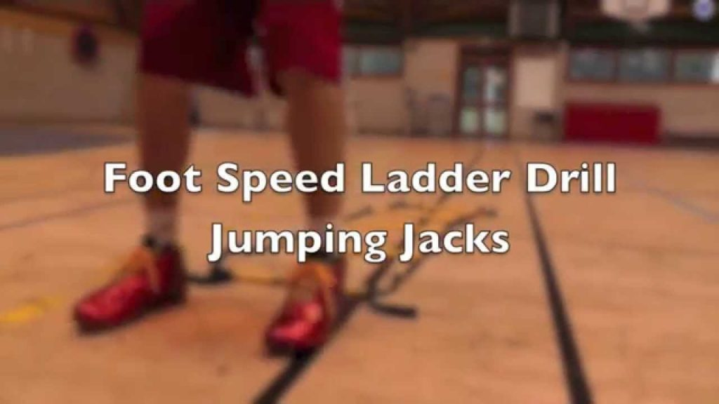 Foot Speed Agility Ladder Drill Jump Jacks