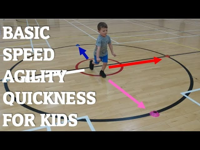 Fun kids Speed, Agility and Quickness cone drills