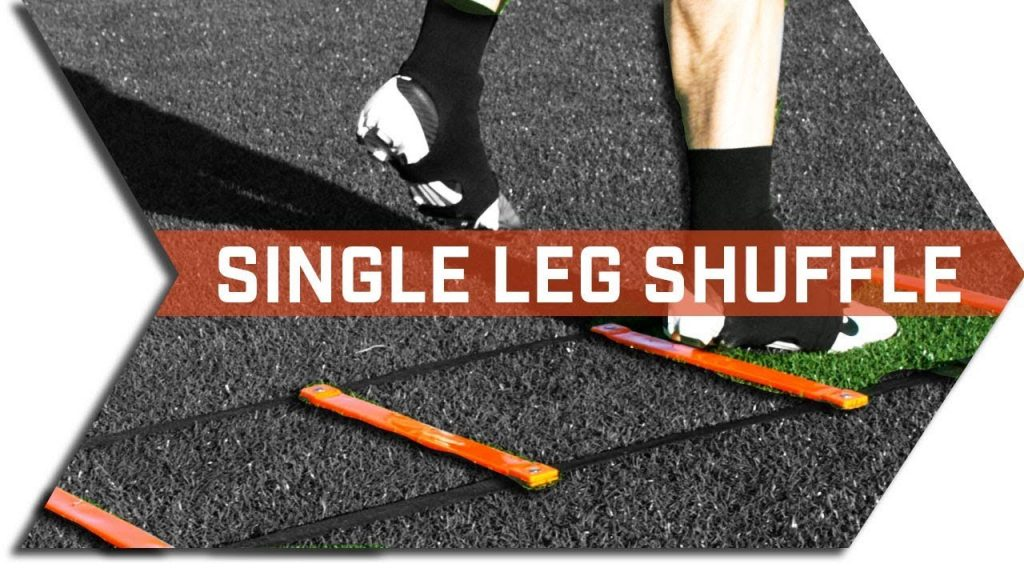 SINGLE LEG SHUFFLE – AGILITY LADDER – FOOTWORK, QUICKNESS & SPEED TRAINING DRILLS