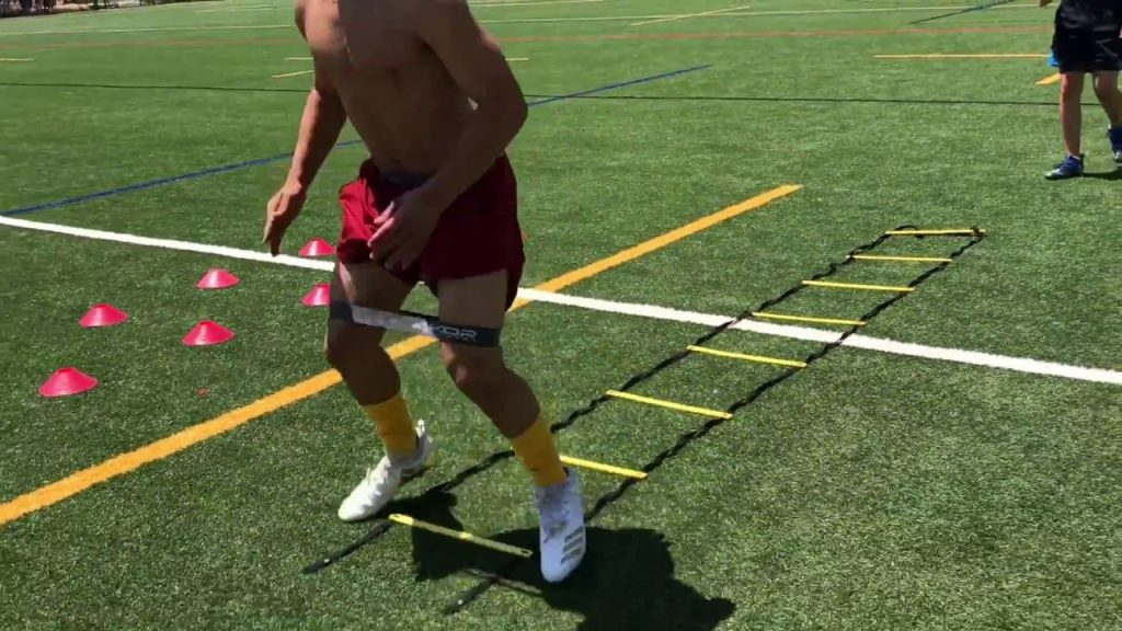 SPORTS FOOTBALL SPEED AND AGILITY TRAINING DRILLS I RUNNING BACK DRILLS