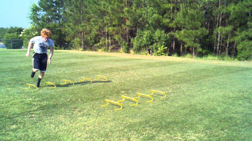 Agility Drills for Football – Mini Hurdles – Stepover