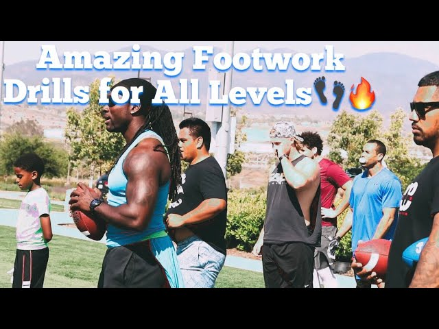 Best Footwork, Agility, Conditioning Drills for Football Players w/ Coach John Walker & Erick Zarate