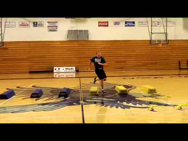 Developing an Offensive Lineman (Dynamic Flex & Bag Agility)