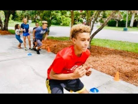 AGILITY Training with my SIBLINGS (Football Season) Jordan's Sunshine Sports #5