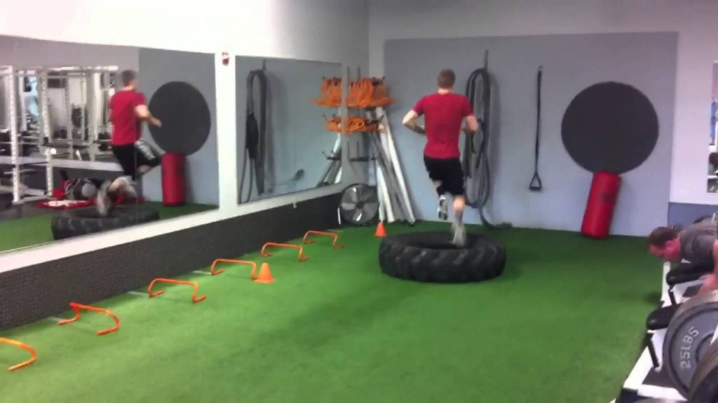 Football Agility with Tire Flips