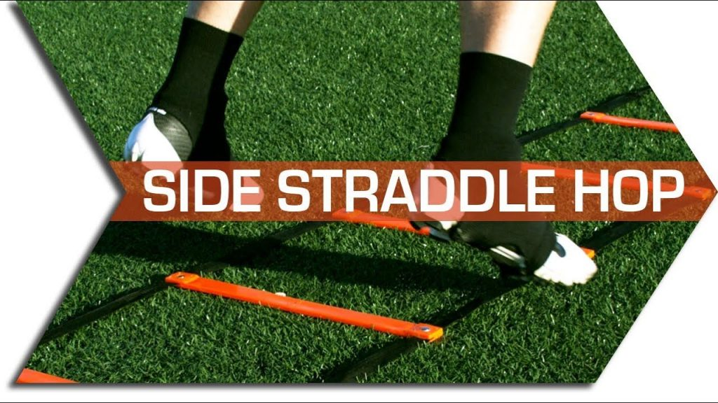 SIDE STRADDLE HOP –  AGILITY LADDER DRILLS – FOOTWORK, QUICKNESS & SPEED TRAINING DRILL