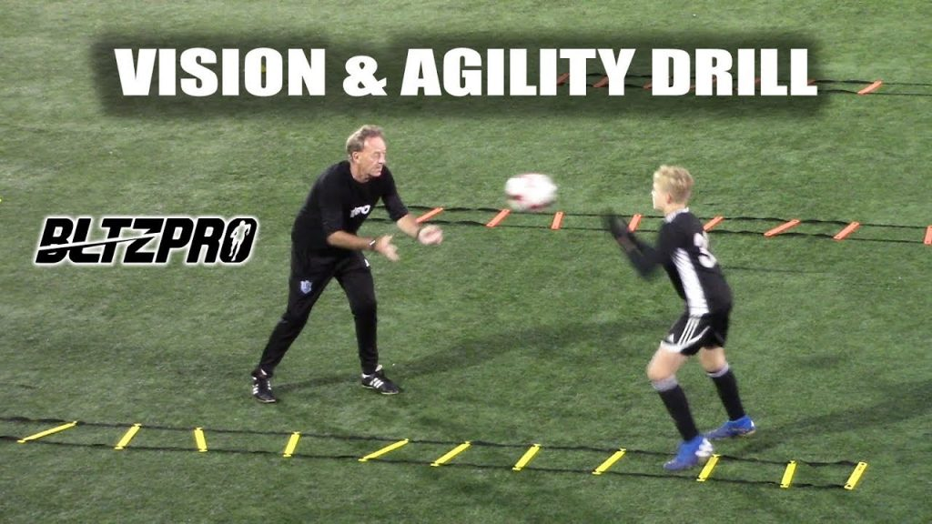 SoccerCoachTV – Great Vision and Agility Drill.