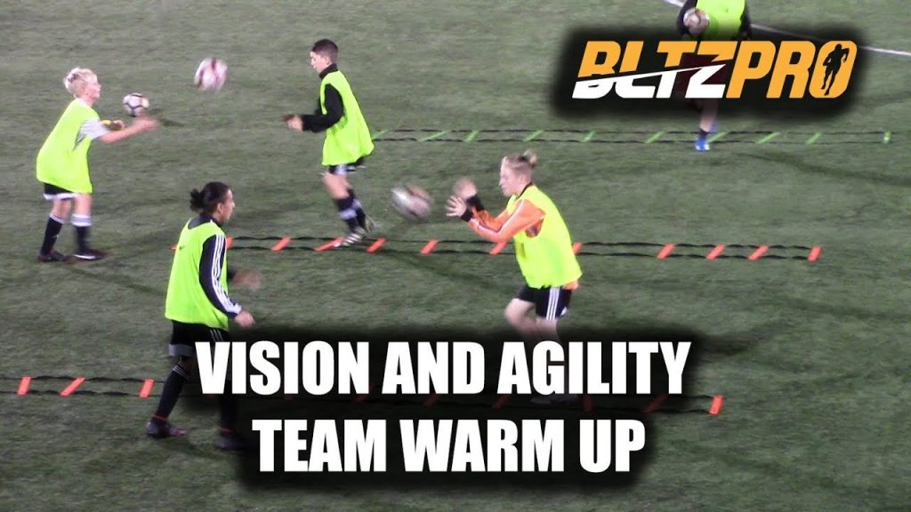 SoccerCoachTV.com – Bltzpro Agility and Vision Team Warm Up.