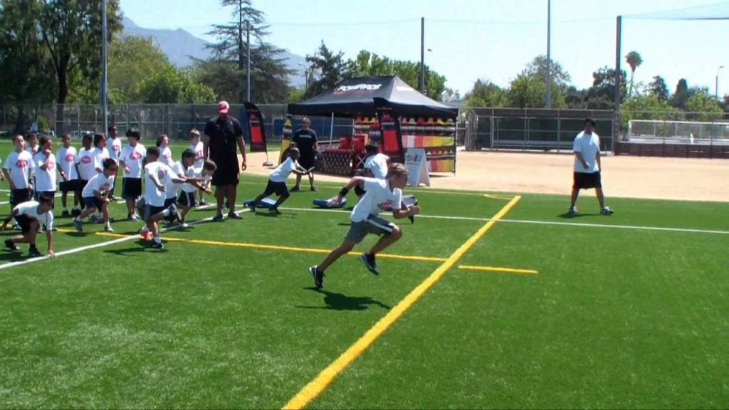 2012 NCAA Youth Football Clinic   Sprint Agility Refresh