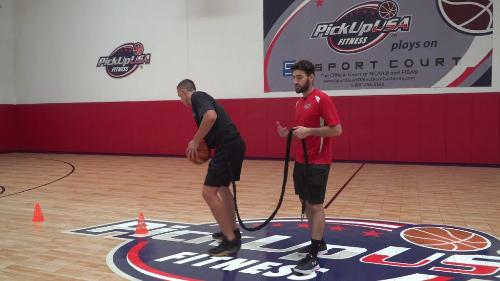 Basketball Skills Training At PickUp USA Fitness: Ball Handling + Agility Bungee Band