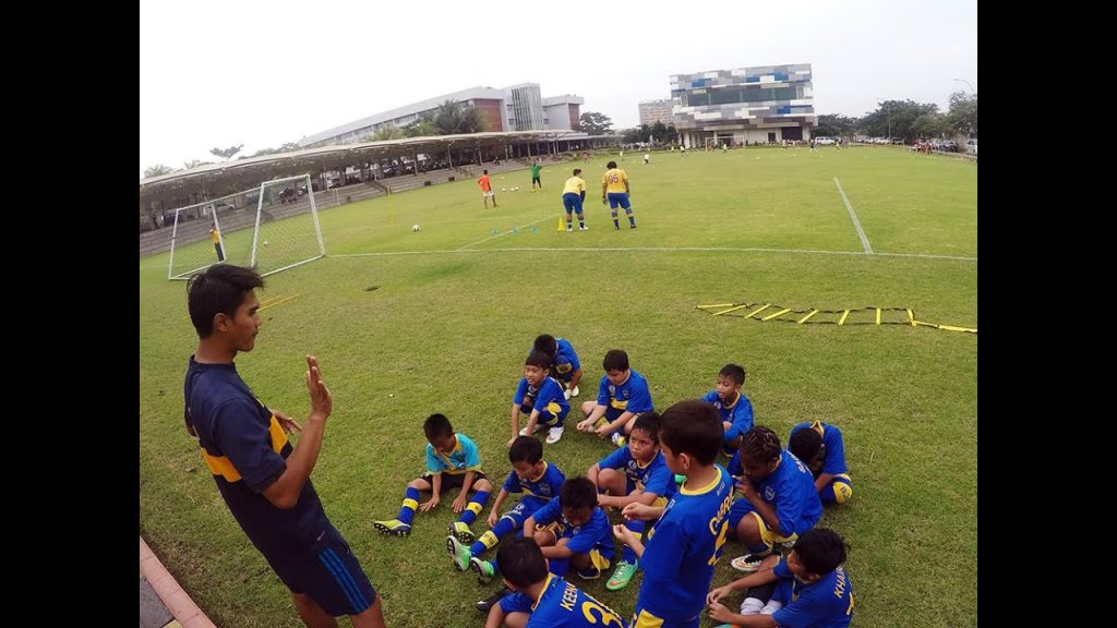 Boca Juniors Football Schools Indonesia agility training with ball