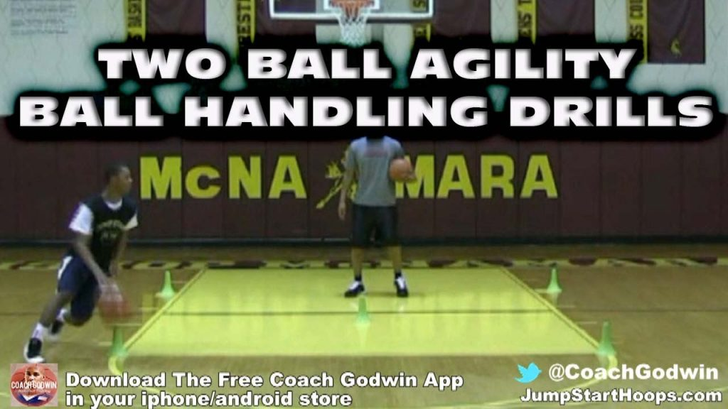 TWO BALL AGILITY BALL HANDLING DRILLS – COACH GODWIN EP: 53
